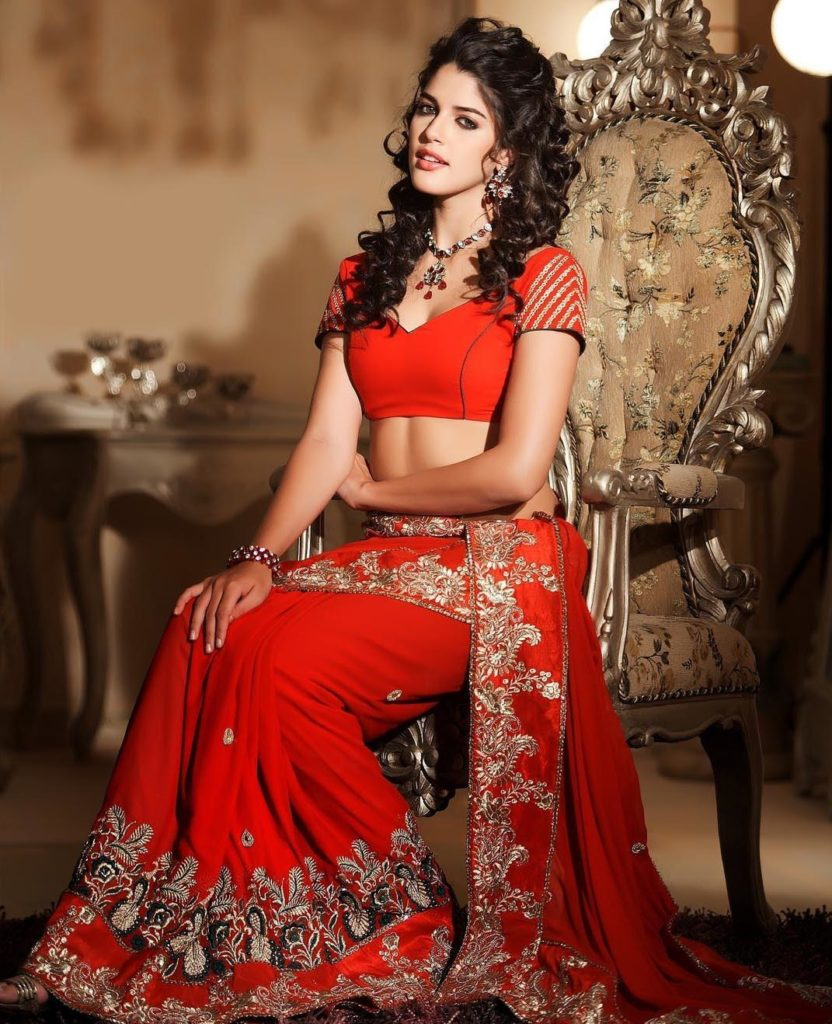 trendy-hair-style-with-saree