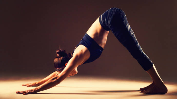 Adhomukhasavashana or downward-facing dog pose