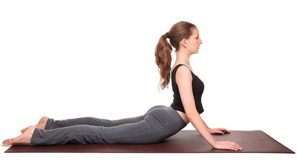 The cobra pose or bhujangasana