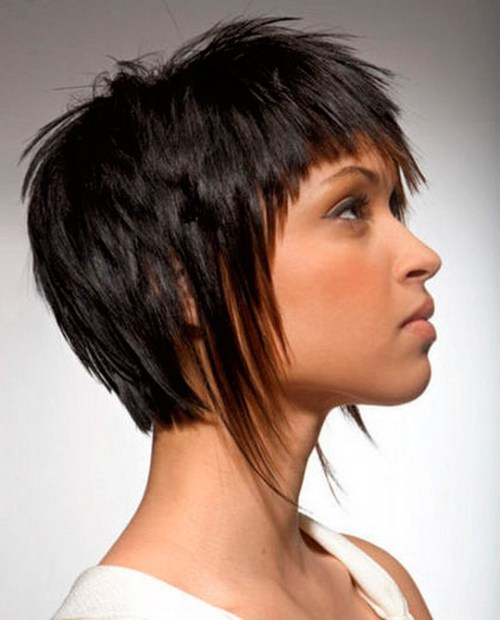 Cropped hairs with longer side fringes