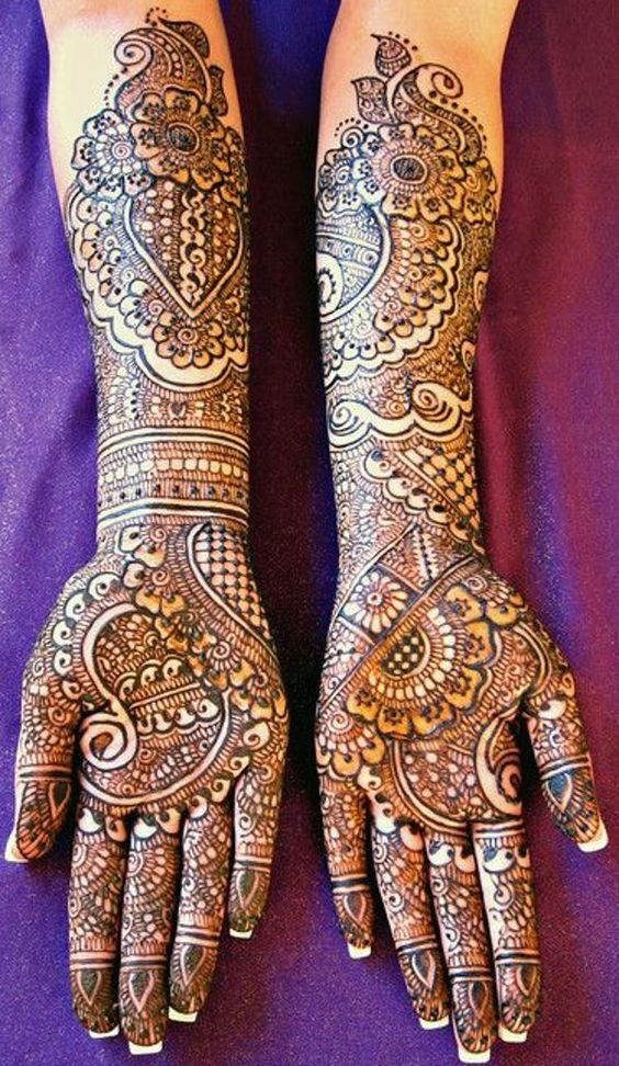 Mehndi Designs Full Hands Marriage : Bridal mehndi designs for hands dulhan henna