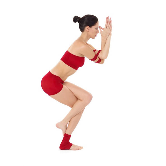 Garudasana or eagle pose