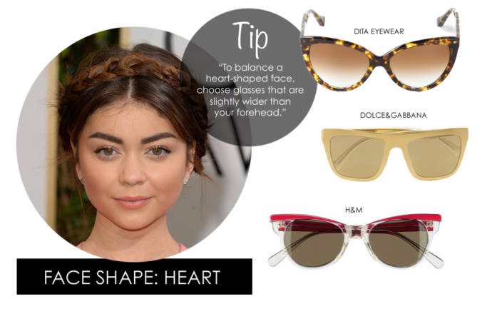 How to pick sunglasses for heart shaped faces