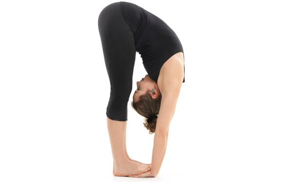 Padahastasana or standing forward bend