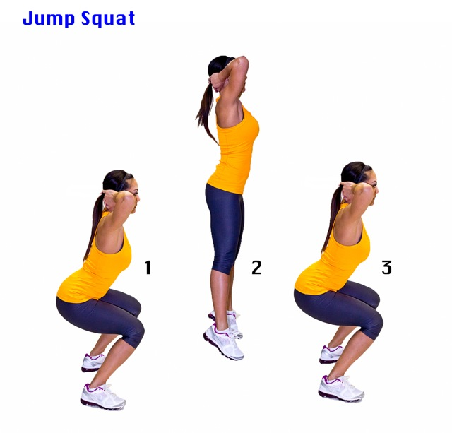 Prisoner squat with jump