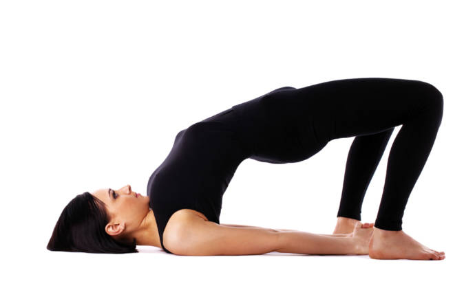Setubandhasana or bridge pose