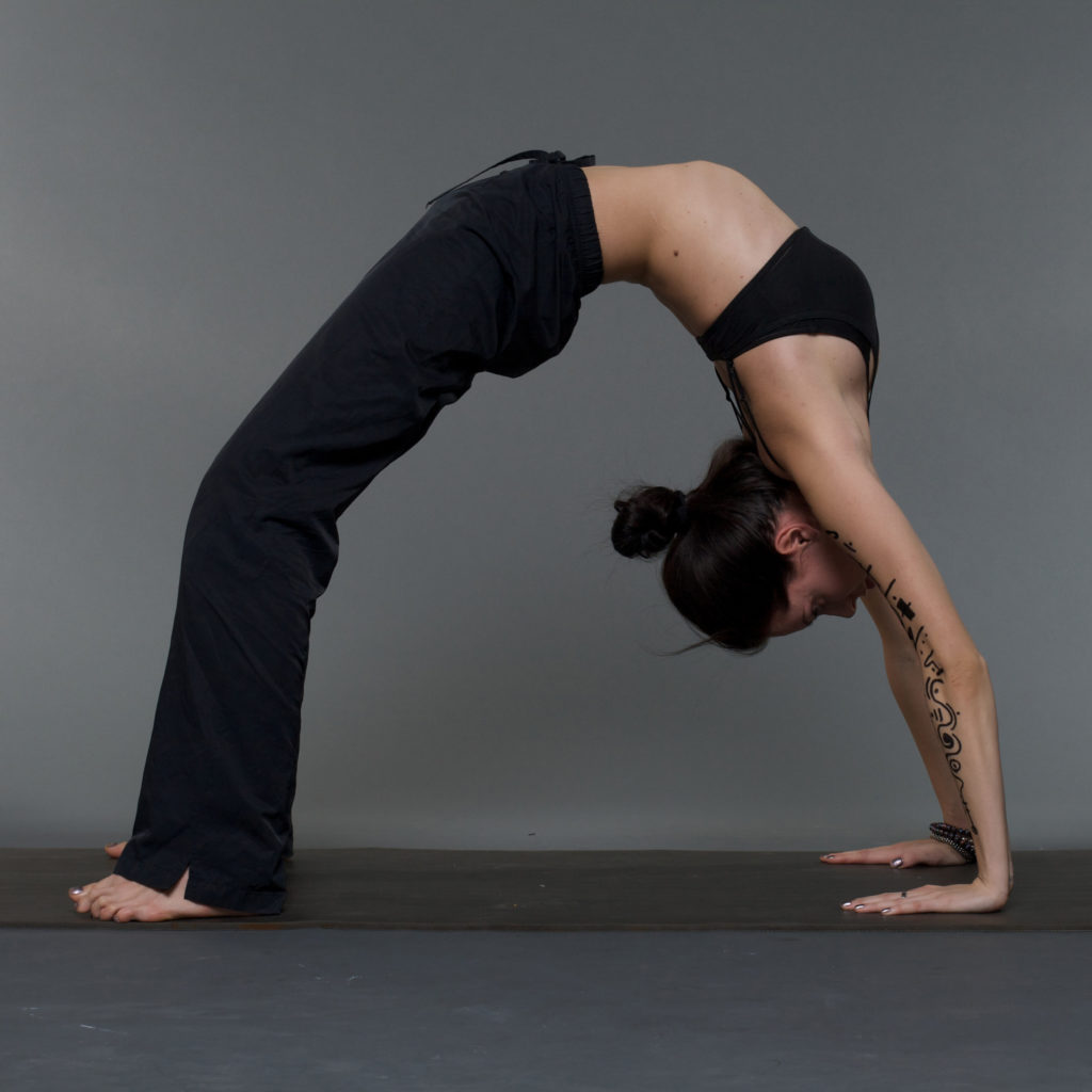 Chakrasana or the wheel pose