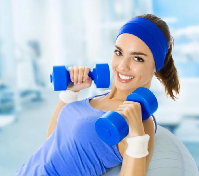 Dumbbells for firm breasts
