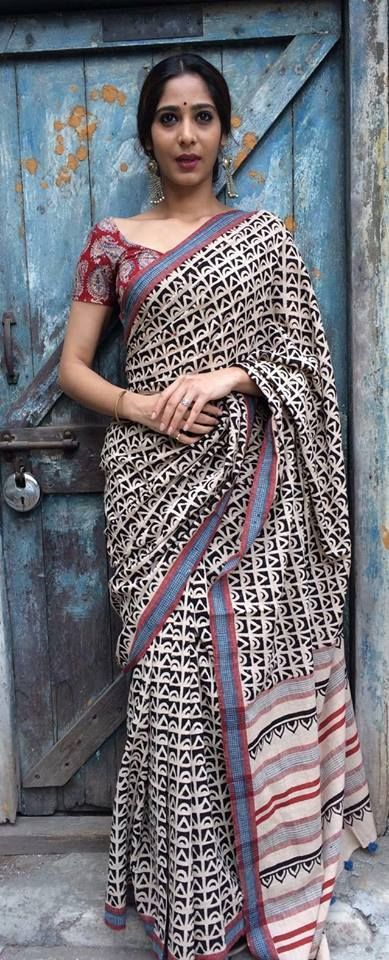 Elegant kalamkari cotton saree