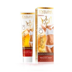 Eveline Justepil Argan Oil 9in1 Ultra Soft Cream Is Designed for Hair Removal Sensitive Areas