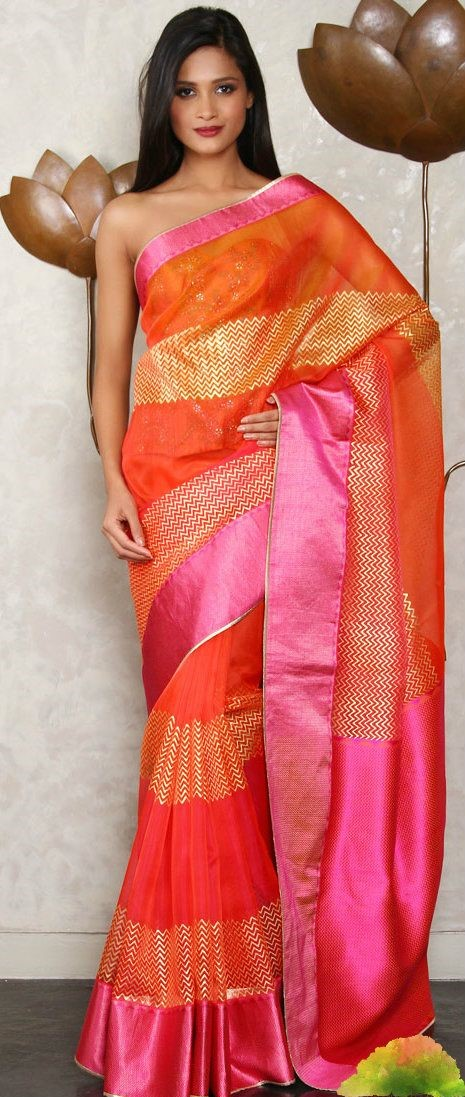 Gorgeous designer silk saree