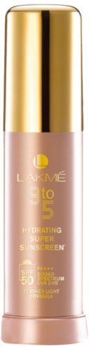Lakme 9 to 5 Hydrating Super SPF 50 Sunscreen Lotion, 30ml
