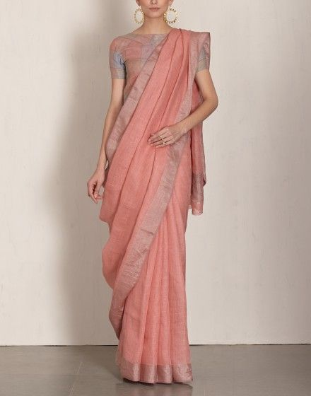 Saree in pastel shade