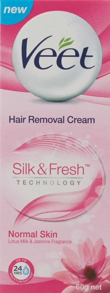 Veet Silk and Fresh Hair removal Cream, Normal Skin, 60 g