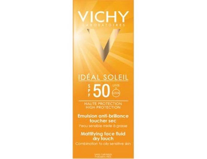 Vichy Ideal Soliel Spf 50 Mattifying Face Fluid Dry Touch