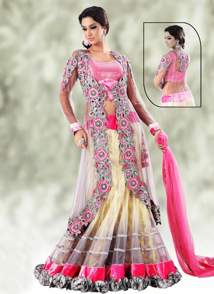 Beads blouse designs for lehenga choli