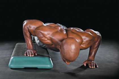 Cross over push ups
