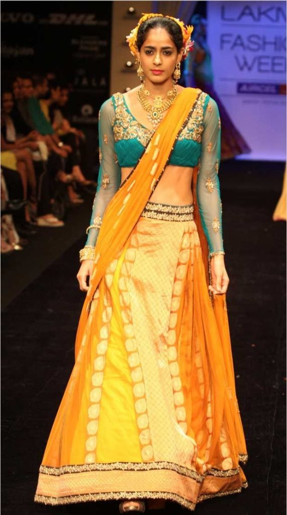 Ghagra blouse design