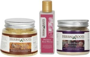 herbal-roots-anti-tan-facial-kit-ubtan-mix-fruit-pack-and-rose-water