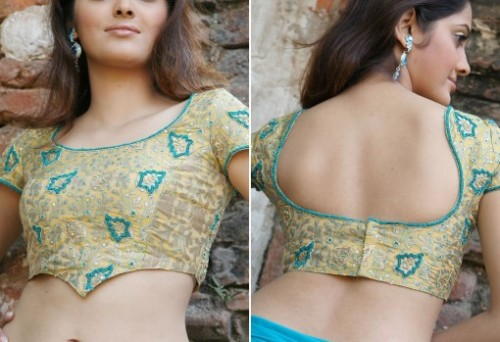 Simple blouse design for ghagra