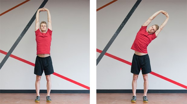 Standing side stretching
