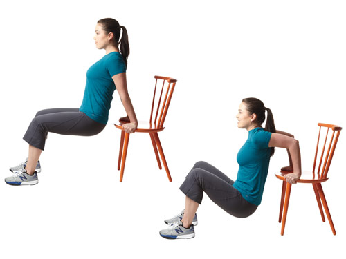 Tricep dips with chair