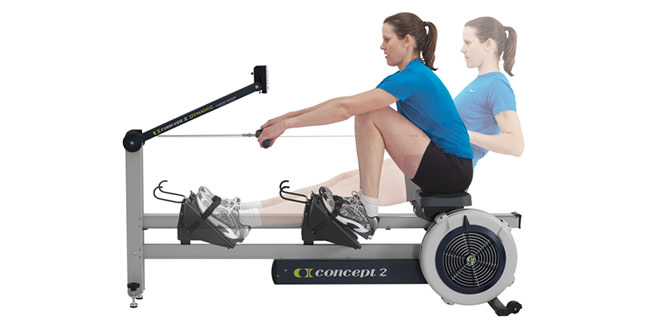 Use the rowing machine