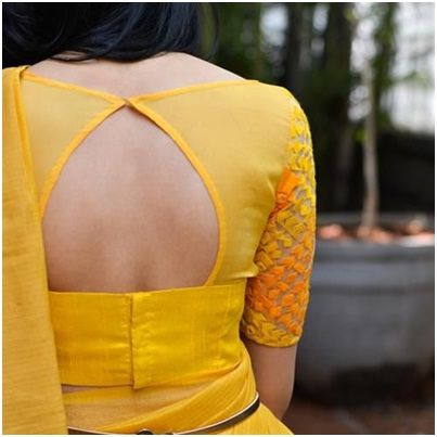 yellow-net-blouse-for-morn