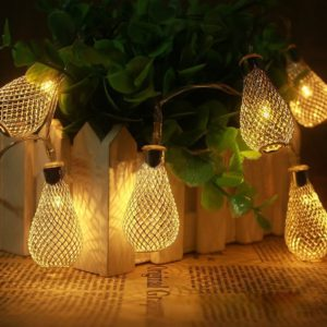 20-LED Battery Operated Diwali Decor Waterdrop String Lamp Lights