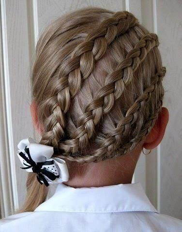 Angular back covering waterfall braiding