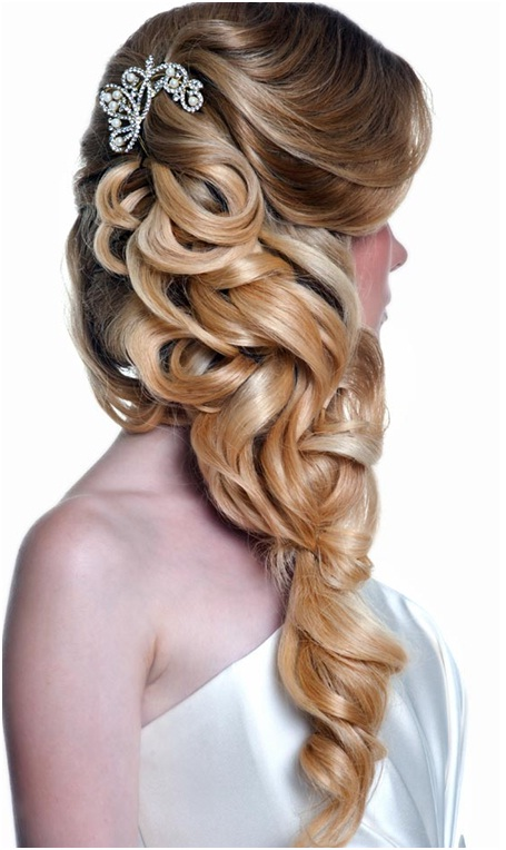 Artistically curled hairstyle for christian wedding