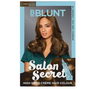 BBLUNT Salon Secret High Shine Creme Hair Colour, Light Golden Brown