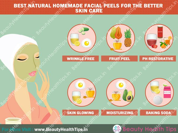 Natural facial peels