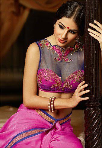 blue-net-blouse-with-pink-design