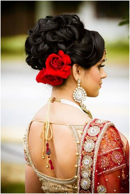 Decorative high bun for weddings