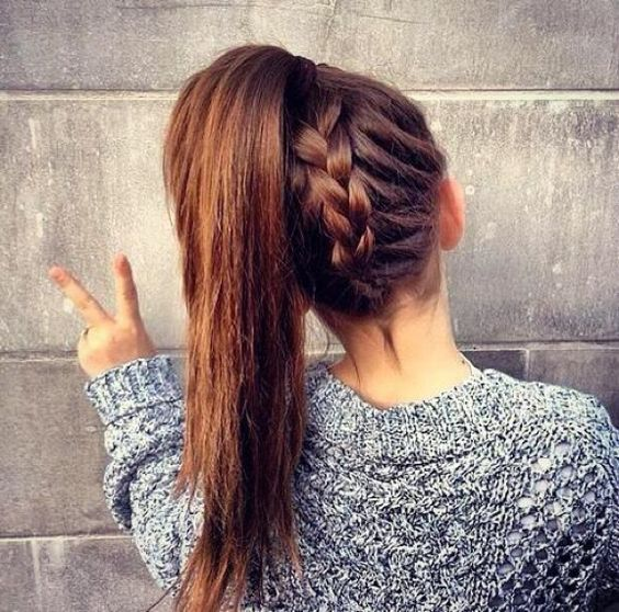 Easy Back Plait Hairstyle For Girls