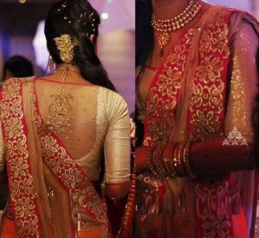 golden-traditional-blouse-with-glitter-design-at-back