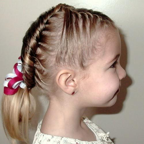Middle waterfall braiding for little girls