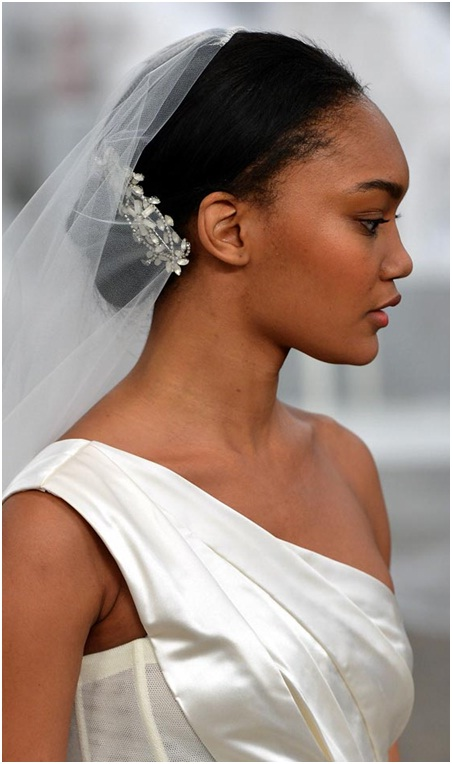 Neat back bun for christian wedding