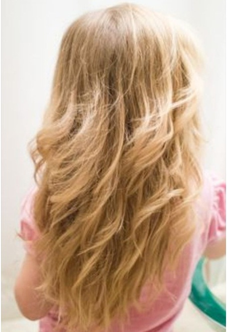 Open long hairstyle