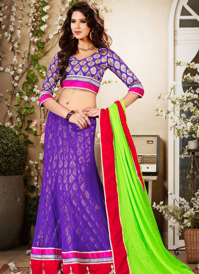 Top Best Latest Blouse Designs For Lehanga Choli Or Half Sarees