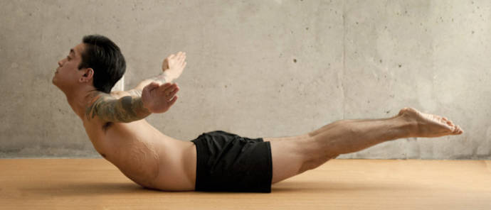 Salabhasana or the locust pose