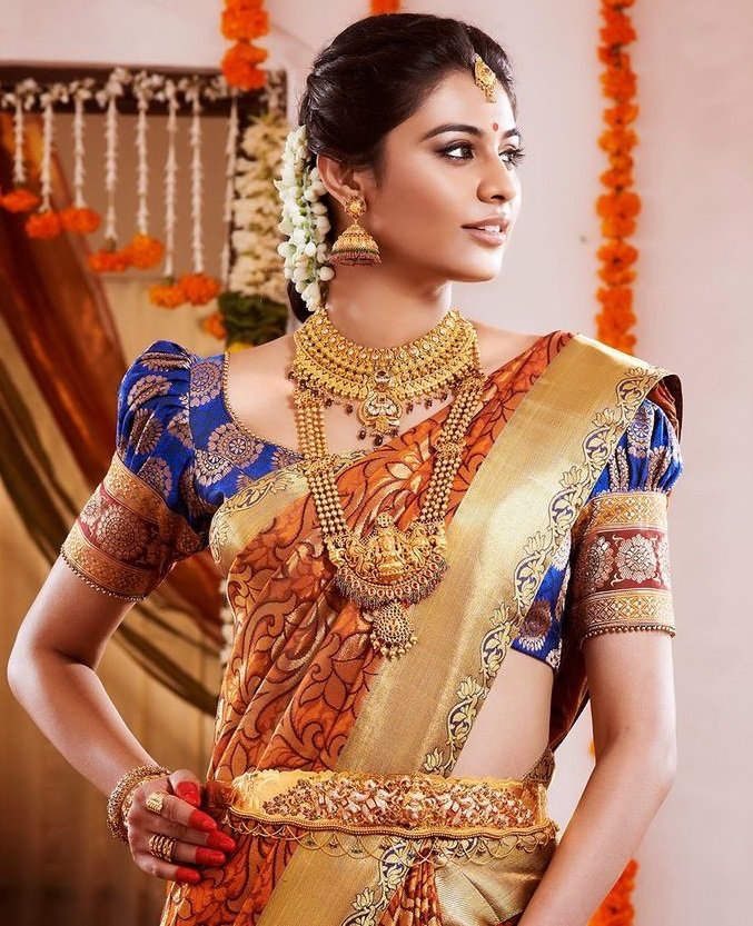 Elegant Top Best Designer Blouse Designs For Pattu Sarees