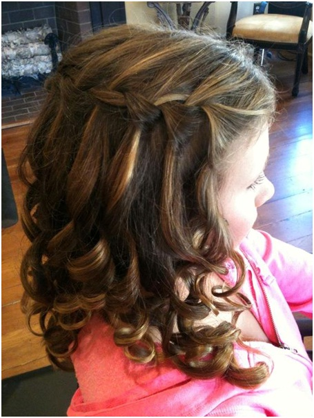 Waterfall braid for your school going daughter