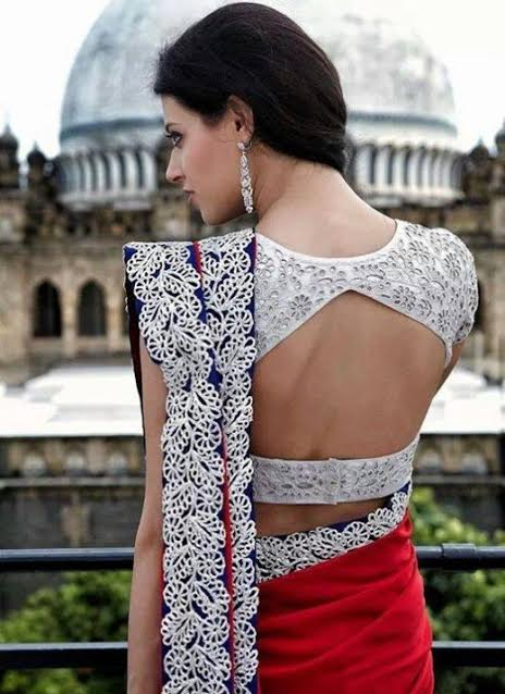 white-deep-cut-wedding-blouse