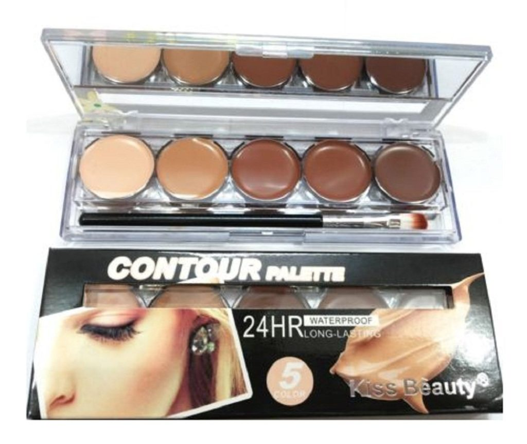 new-kiss-beauty-contour-concealer-highlighter-palette-5-color