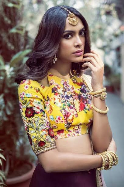 yellow-flowery-high-neck-blouse