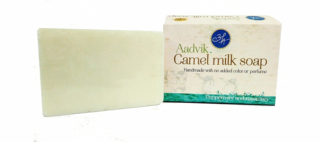 Aadvik Camel Milk Soap with Peppermint & Rosemary Essential Oil