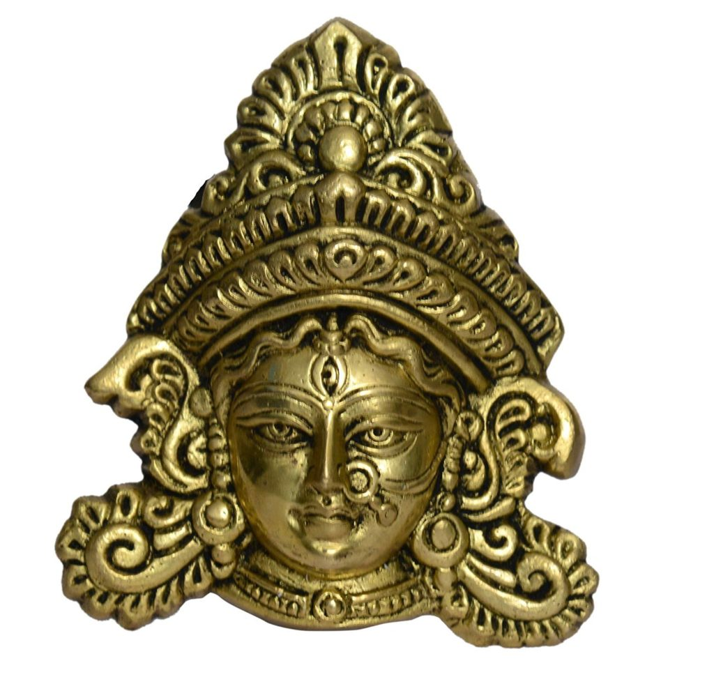 gathbandhan-brass-durgamaa-face-wall-hanging