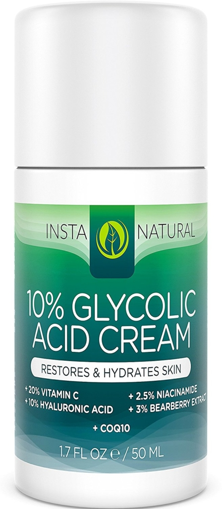 Glycolic acid cream for acne